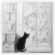si j'adore SEMPÉ, si SEMPE adore les chats, si j'adore ma vieille, alors SEMPE adore ma NINI....car en plus SEMPE connait Gaspard c'est lui...