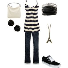 Black and White Outfit, created by joanofarc713 on Polyvore