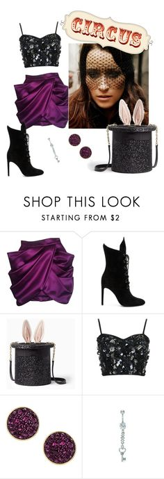 """Circus Freak"" by raspberry-stegosaurus ❤ liked on Polyvore featuring Balmain, Kendall + Kylie, Kate Spade, Topshop and H&M"