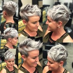 Best Short Hairstyles for Women Over 40 - Chic Pixie Haircut - Short hair cuts - Frisuren Latest Short Hairstyles, Short Pixie Haircuts, Trendy Haircuts, Pixie Hairstyles, Short Hair Cuts, Pixie Cuts, Hairstyles 2018, Haircut Short, Blonde Hairstyles