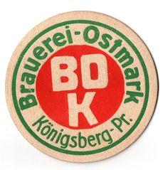 Vk Bierdeckel Brauerei Ostmark Königsberg Pr. ---