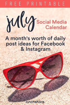 Go have some fun in the sun while you increase your visibility and #engagement online! Schedule your #content for the entire month of July with this daily social media calendar:  **If you're having trouble downloading please try using another browser like Google Chrome.**  #directsales #contentcalendar #julycontentideas #julycontentcalendar