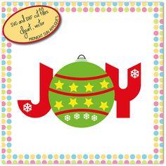 Joy svg dxf clipart christmas svg joy cut file christmas