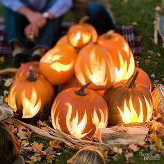 Outdoor Halloween Decorating with Pumpkins