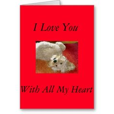 Labradoodle I Love You Card