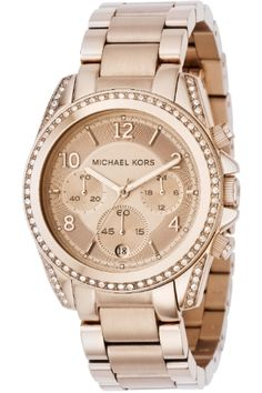 Christmas Present: Rose Gold Michael Kors Ladies Watch to match my Rose gold bow necklace! :)