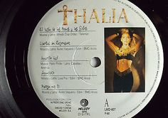 """Thalia Debut Mexican LP 12 """" Autographed by Thalia Melody 1990 