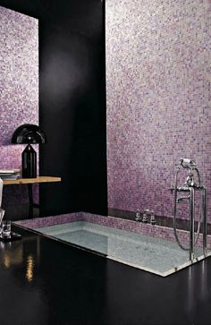 I would live in this bathroom. BISAZZA glass mosaic