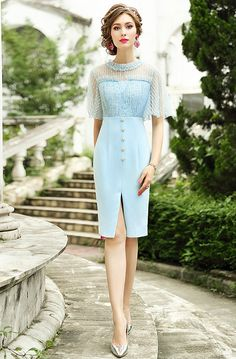 Vestidos Vintage, Vintage Dresses, Modelos Fashion, Short Dresses, Summer Dresses, Daily Dress, High Fashion, Womens Fashion, Dream Dress