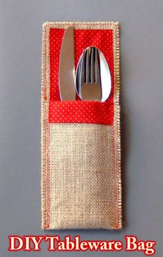 How to make a bag for tableware -