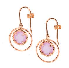 Morganne Bello - Étoile Perlée - Boucles d'oreilles - Quartz rose