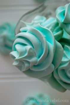 Cotton Candy Meringues -