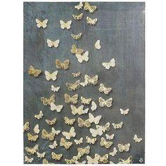Butterflies Art - Steel Blue I Pier One