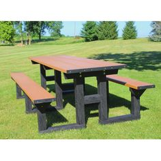 8' W Easy Access Picnic Table