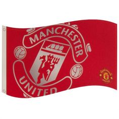 8632a0f31a9 Manchester United large flag in traditional club colours and featuring the  iconic club crest. FREE. Football Gifts Online