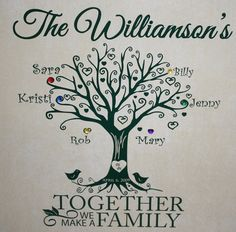 Customized Family Tree Decorative Tile 16x16 by ItsNotPaintDesigns, $59.99