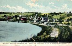 1910s-W-E-BURGESS-view-SCOTTSVILLE-VA-Birdseye-View-w-RR-Tracks-River