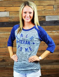 Every Texan knows that Texas has its very own language. Show your love and support for the last great state in this fun, trendy new top.