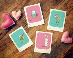 Our kids LOVE these free printable Valentines! You can customize the colors of the background, the animals, the type.