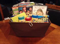 Movie night basket house warming gift... 8 $5 DVDs from Walmart, candy, popcorn :)