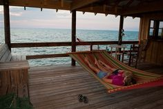 Hammock on the pier at Point Clear Cottages in Fairhope, Alabama