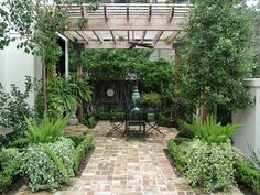 Lovely sitting area at backyard