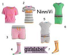 NinniVi meisjeskleding, sportieve kleding voor meisjes, ninni vi zomer 2015, trendy meisjeskleding, hippe meisjeskleding
