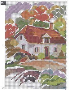 Gallery.ru / Фото #14 - акварельное - irisha-ira Cross Stitch House, Cross Stitch Books, Cross Stitch Art, Cross Stitch Designs, Cross Stitching, Cross Stitch Embroidery, Embroidery Patterns, Cross Stitch Patterns, Perler Bead Emoji