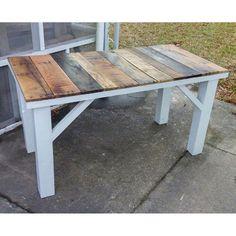 Mesa de cocina rústica de madera reciclada. por LostDogWoodworks