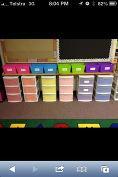 Great storage idea. It's always to keep a classroom super organised. Saves nervous breakdowns!