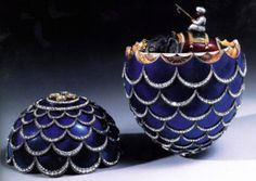 'The Pine Cone Egg' made by a Faberge workmaster in St Petersburg, Russia in 1900 is to be auctioned at Christie's in New York on April 15 1997.