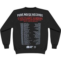 Pure Noise Records Men's Tour 2014 Sweatshirt Black - http://bandshirts.org/product/pure-noise-records-mens-tour-2014-sweatshirt-black/