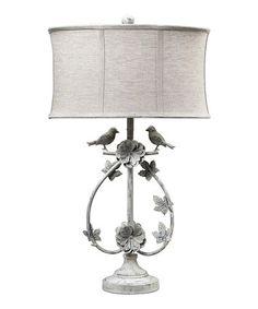 Look at this #zulilyfind! Antique White Two Birds Table Lamp #zulilyfinds