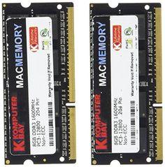 Komputerbay MACMEMORY 16Go (2x 8Go) PC3-12800 1600MHz 204-pin SODIMM mémoire d'ordinateur portable pour Apple Mac 10-10-10-27 - https://streel.be/komputerbay-macmemory-16go-2x-8go-pc3-12800-1600mhz-204-pin-sodimm-memoire-dordinateur-portable-pour-apple-mac-10-10-10-27/
