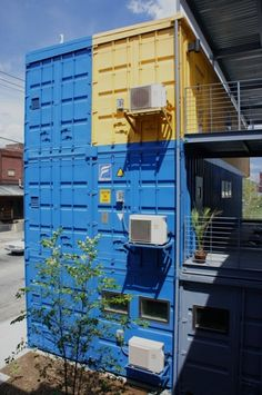 Shipping Container Architecture: Shipping container office building - The Box Office by Distill Studio and Truth Box