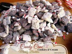 Candy Cane Cookies & Cream Muddy Buddies