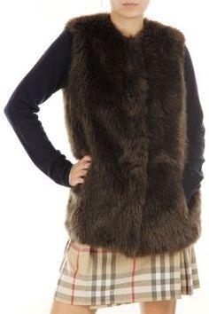 Sleeveless faux fur by Prada