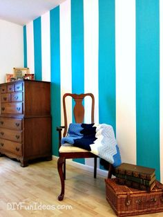 THE SECRET TO PAINTING SHARP LINES AND PERFECT STRIPES & MY NEW STRIPED WALL