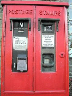 Royal Mail stamp machines, this photo shows decimal on one side and old money on the other. that is because the 50p coin was introduced in 1969 after the withdrawal of the 10/- note, but before decimalisation