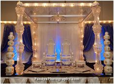 ice themed indian wedding finale
