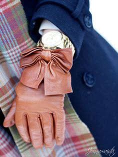 Leather gloves from Mango