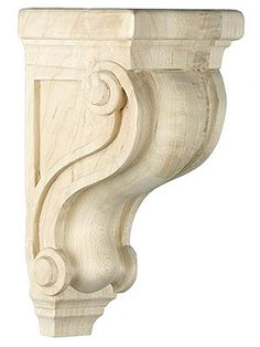 Shelf Brackets Wood. Scroll Design Corbel in 5 Sizes with Choice of Wood