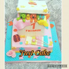 Toy box cake for one year old girl.