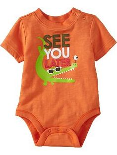 Animal-Graphic Bodysuits for Baby | Old Navy $9.94