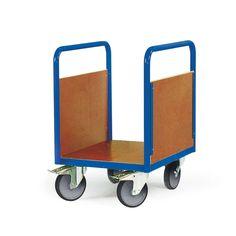 GTARDO.DE:  Plattformwagen mit 2 Seitenwänden, Ladefläche 1000 x 700 mm, 500 kg, LxBxH 1147x700x900 mm 247,00 €