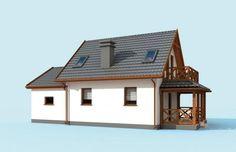 Projekt domu wielorodzinnego ORLEAN 5 dom letniskowy z poddaszem Cottage Homes, Home Fashion, Gazebo, House Plans, Shed, Outdoor Structures, Cabin, How To Plan, House Styles