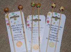Bundle Ferri da maglia in bamb� dipinti a mano 2.5/3/3.5 da DMC - Ferri Aghi e Uncinetti - Maglia e Uncinetto - Casa Cenina