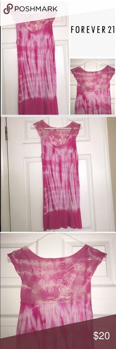 • Pink Tie Dye Tunic • Cute long flowy tank top/ DRESS stretchy comfy material • good condition • can be worn as a top with leggings or a very short dress • fabric shows minor wear  • Offers Welcome • Bundle Discounts  • Suggested User • Fast Shipper Forever 21 Tops Tunics