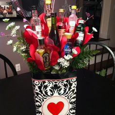 valentine day basket supplies