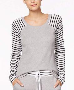 bf4fa359a0 Alfani Striped-Sleeve Thermal Pajama Top. Thermal PajamasFleece PajamasMacy  GrayPajama ...